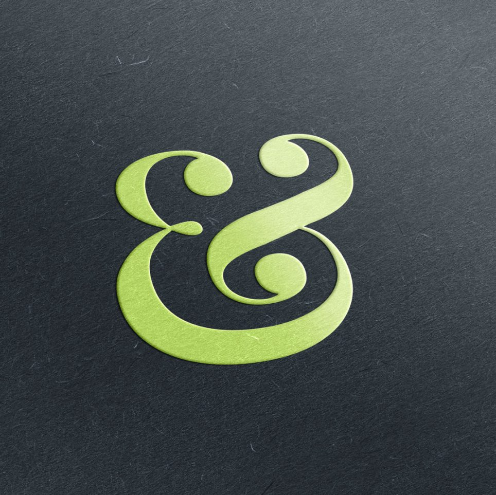 Embossed Ampersand from Munch Studio Blog