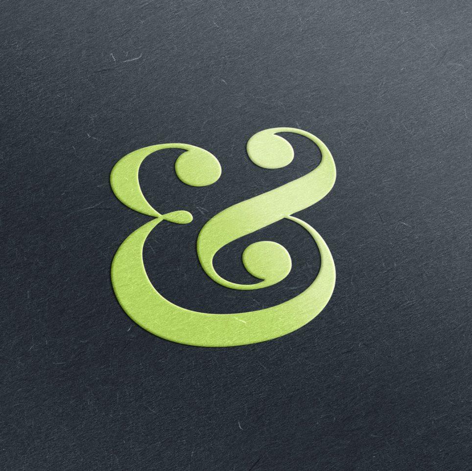 Embossed Ampersand from Munch Studio Blog